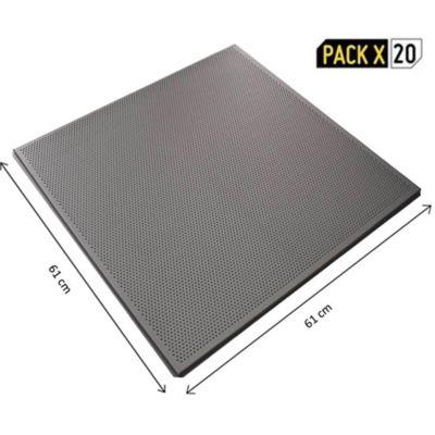 Pack x 20 Bandeja Metálica 1516 Perforada Gris 610x610mm