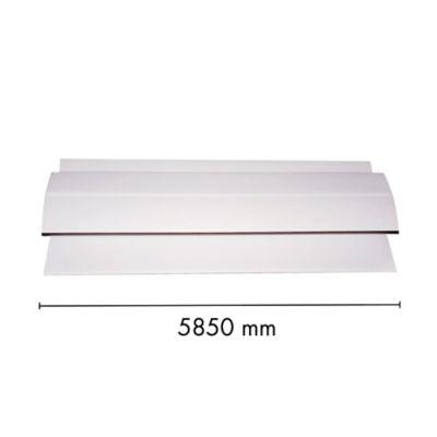 Conector H Cielo Raso Pvc 5mm Blanco 5.85m Sou