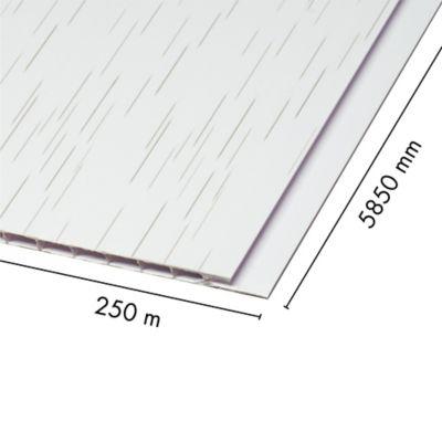 Cielo Raso Pvc 5mm Pino Blanco 0.25 X 5.85m Sou
