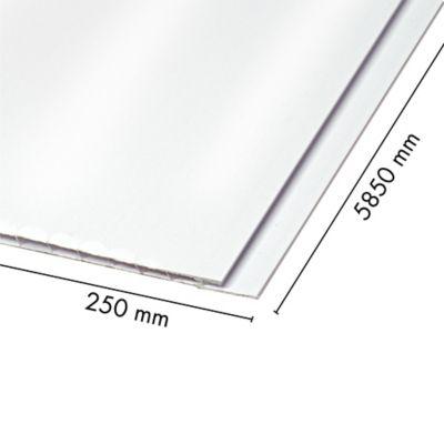 Cielo Raso Pvc 5mm Blanco 0.25m X 5.85m Sou
