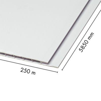 Cielo Raso Pvc 5mm Blanco Mate 0.25x5.85m Sou