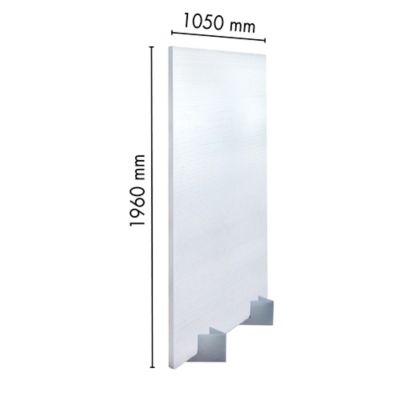 Panel Divisorio 16mm Blanco 1.05m X 1.96m Ark