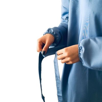 Bata Protectora de Ropa Color Azul Talla L