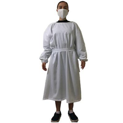 Bata Protectora de Ropa Color Blanco Talla L