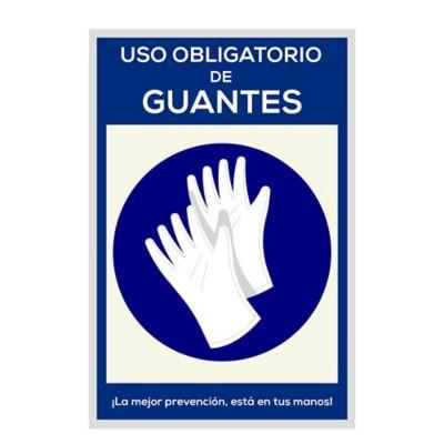 Señal Uso Obligatorio de Guantes 30x45cm