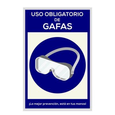 Señal Uso Obligatorio de Gafas 20x30cm