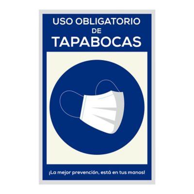 Señal Uso Obligatorio de Tapabocas 20x30cm