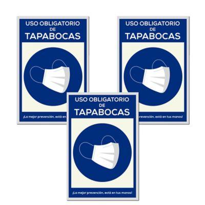 Señal Uso Obligatorio Tapabocas 20x30cm x3 Unidades