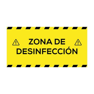 Señal Zona de Descontaminación Sticker Piso 40x20cm