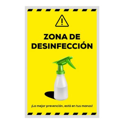 Señal Zona de Descontaminación 30x45cm