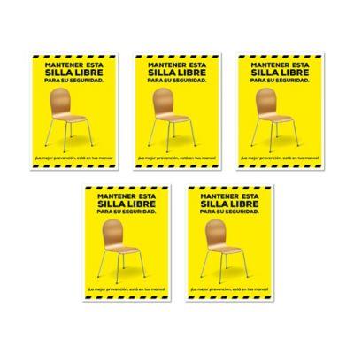 Señal Silla Deshabilitada Sticker 15x20cm x5 Unidades