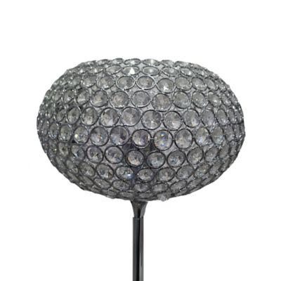 Lámpara de Pie de Cristal Focos Incluidos