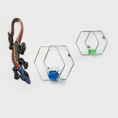 Set x2 Repisa Funcional Hexágonos Aluminio
