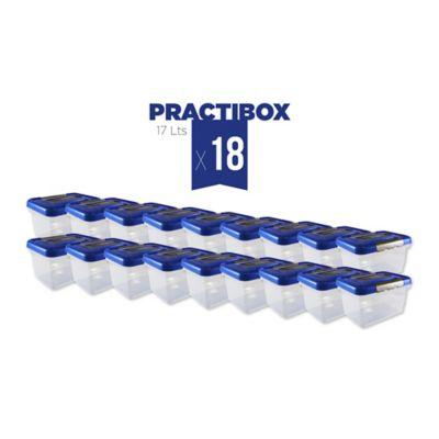 Set x18 Unidades Practibox 17L Azul