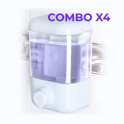 Combo x 4 Dosificador Gel/Jabón 500cc