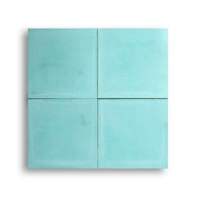Mosaico Monocolor Azul Aguamarin Producto Artesanal (20x20) 1 M2