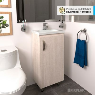 Lavamanos Eco 40x30 Con Mueble Básico A Piso - Mali