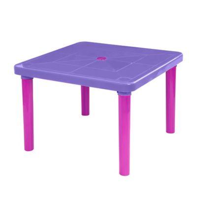 Mesa Plástica Infantil 73x73x51cm Violeta