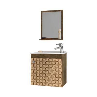 Mueble de Baño Siena + Lavamanos + Espejo M.Rustica