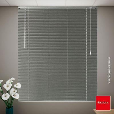 Persiana Aluminio 100x180 cm Gris Platino