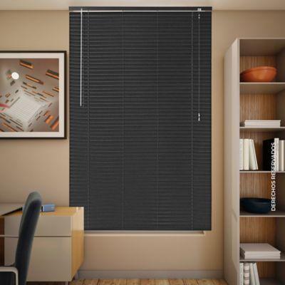 Persiana Aluminio 160x140 cm Negro Ebano