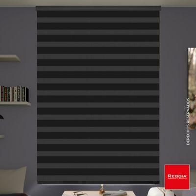 Persiana Roller Dúo Oscuridad 100x160 cm Negro Onix