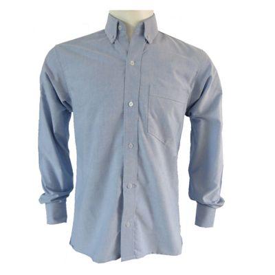 Camisa Clasica Hombre Azul Oxford Talla L