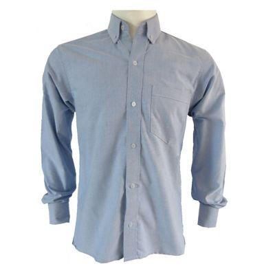 Camisa Clasica Hombre Azul Oxford Talla S