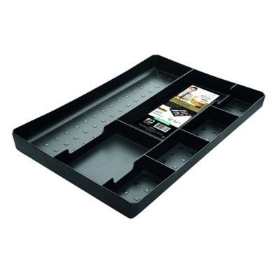 Bandeja Plástica Organizadora De Cajones 33.4x19.5x22.8 cm Negra
