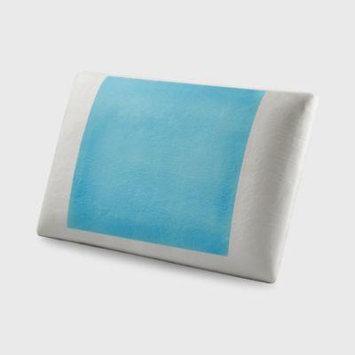 Almohada Slim Memory Cool Blue Blanca