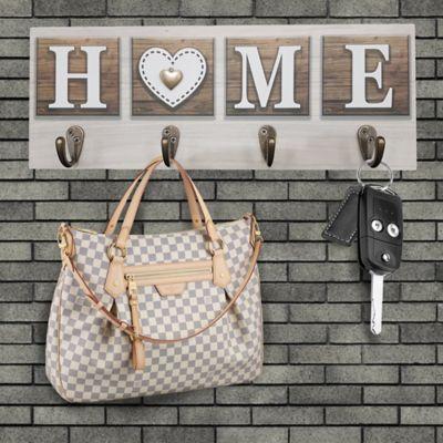 Perchero Home + Corazón 40x15 cm