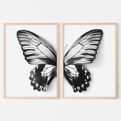 Cuadro Díptico Mariposa 40x60cm