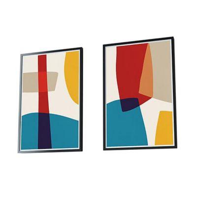 Cuadro Díptico Geometricos Colores 50x70cm