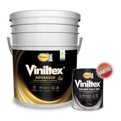 Kit Pintura para Interior/Exterior  5 Galones Blanco GRATIS Viniltex Tablero para Tiza 1/4 Galón