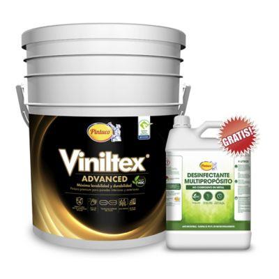 Kit Pintura para Interior 5 Galones Blanco GRATIS Desinfectante Multipropósito