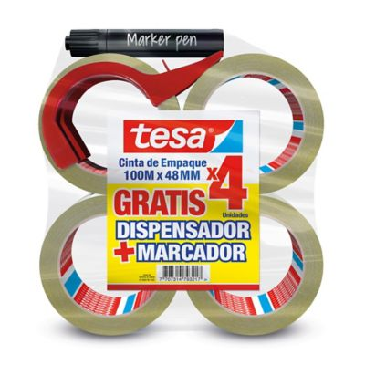 Cinta Empaque 100Mx48Mm Gratis Dispensador + Marcador