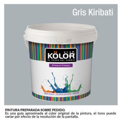 Pintura para Interior Gris Kiribati Deluxe Mate 1 Galón