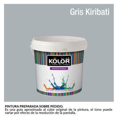Pintura para Interior Gris Kiribate Deluxe Mate 1/2 Galón