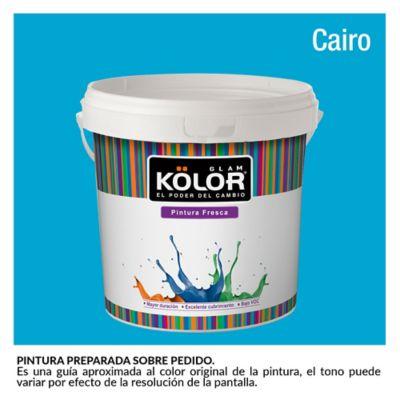 Pintura para Interior Azul Cairo Deluxe Mate 1 Galón
