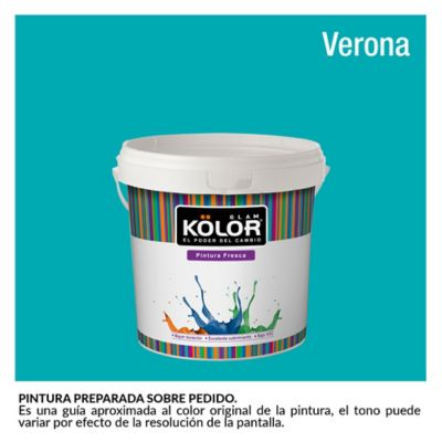 Pintura para Interior Azul Verdoso Verona Deluxe Mate 1/2 Galón