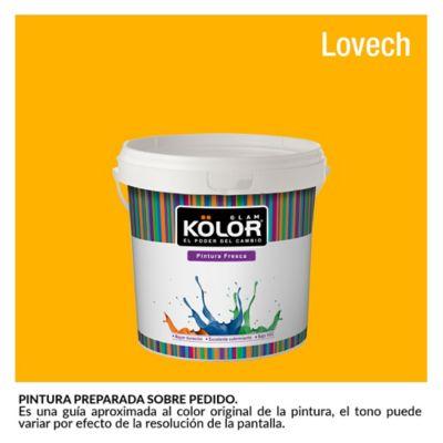 Pintura para Interior Amarillo Lovech Deluxe Mate 1/2 Galón