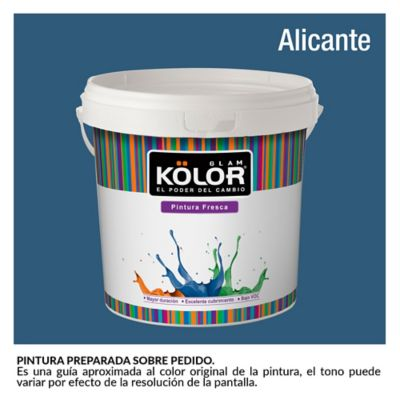 Pintura para Interior Azul Alicante Deluxe Mate 1 Galón