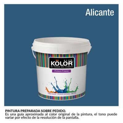 Pintura para Interior Azul Alicante Deluxe Mate 1/2 Galón