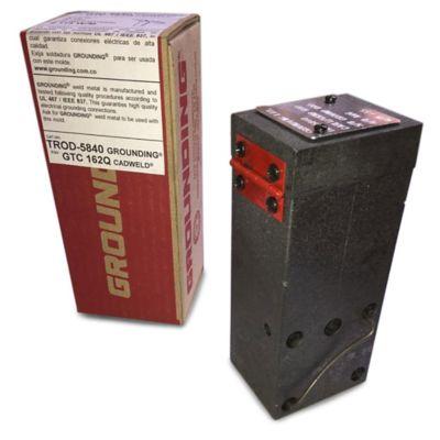 Molde Cable 1/0AWG en X Horizontal a Tope Varilla 5/8