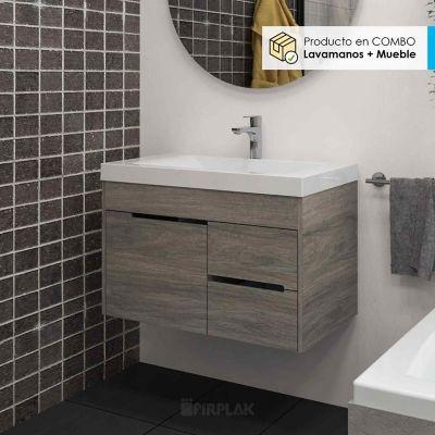 Mueble de Baño Tiziano 79x48 Color Tambo Con Lavamanos Siena