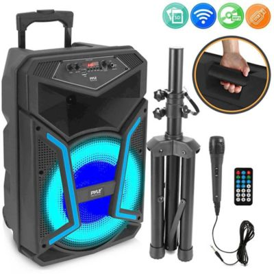 Parlante Cabina Bluetooth con luces LED 1200 W Negro