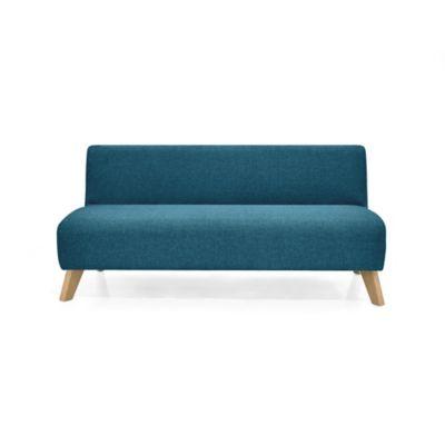 Sofá 3 Puestos Oslo 70x150x65 Tela Azul