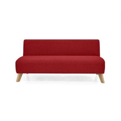 Sofá 3 Puestos Oslo 70x150x65 Tela Rojo