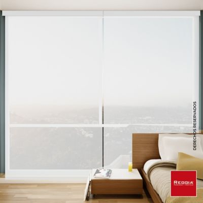 Persiana Solar Screen Cenefa 120x180 cm Blanco