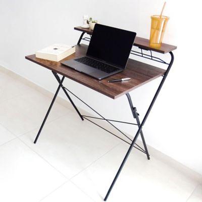 Escritorio Plegable Negro 73.2x55x2x85.7cm